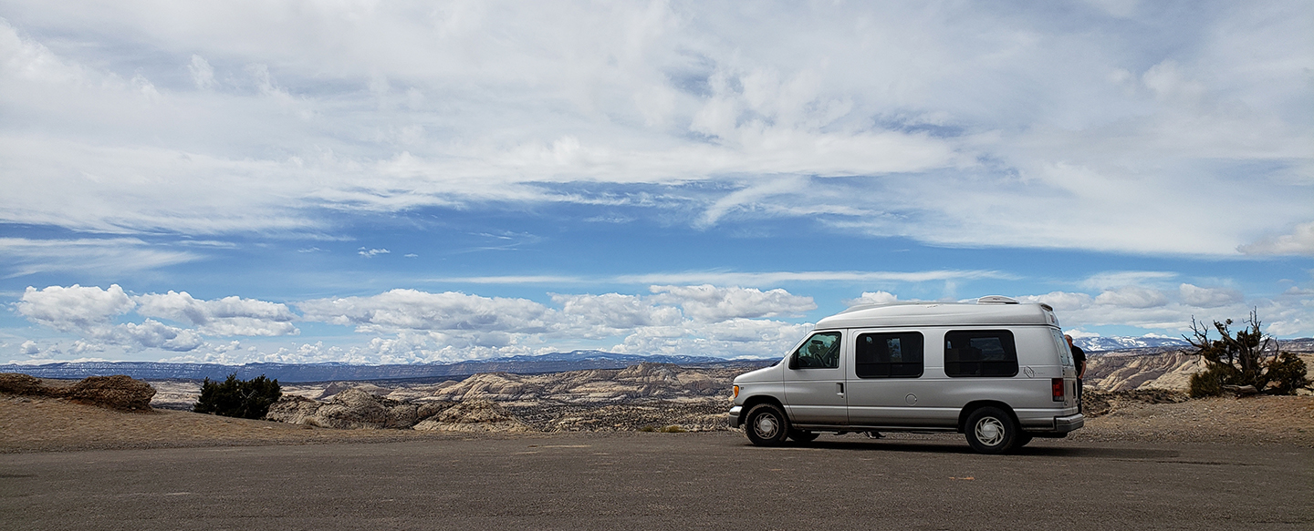 Van overlooking Grand Staircase-Escalante